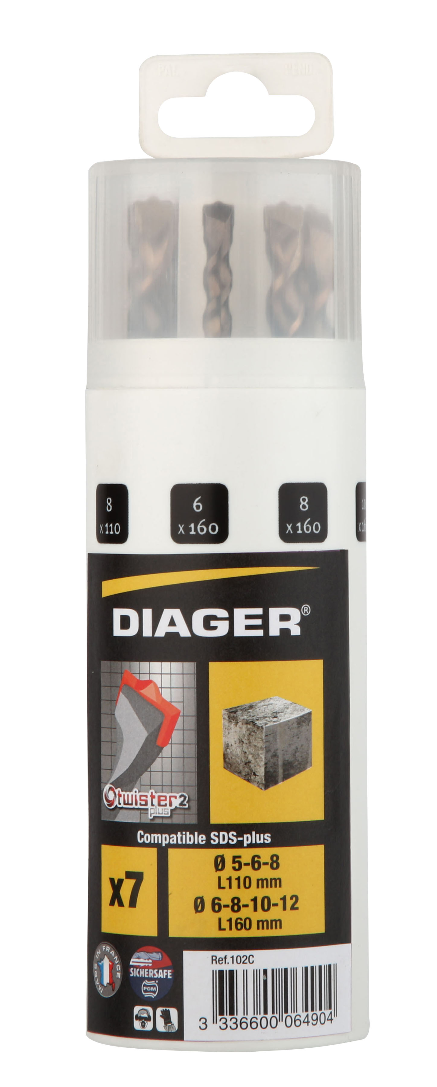 Perçage Twister Plus Coff plast. 7pcs Twister-plus L110 Ø5-6-8 L160 Ø6-8-10-12 - 102C.jpg