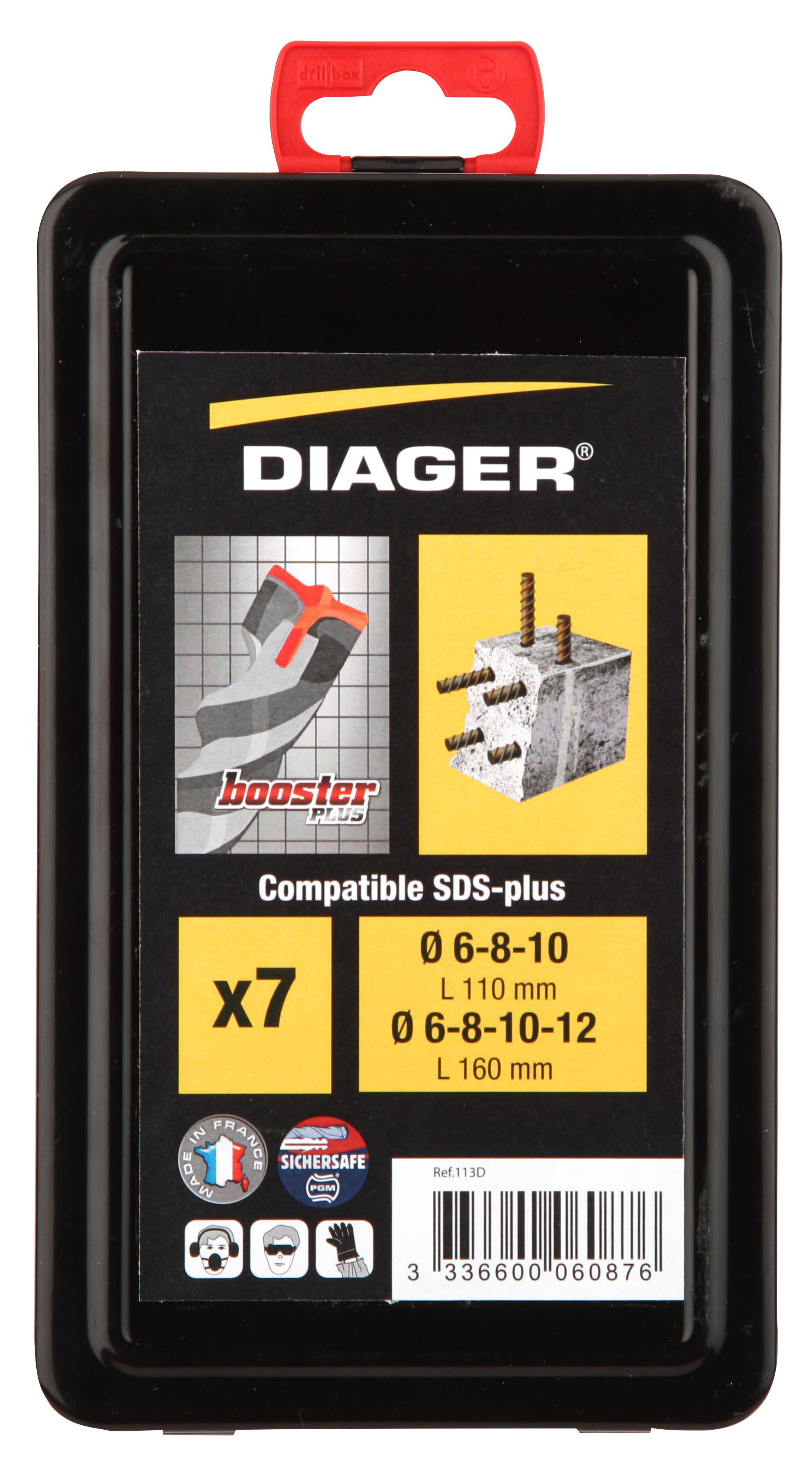 Perçage Booster Plus Coff métal. 7pcs Booster-plus L110 Ø6-8-10 L160 Ø6-8-10-12 - 113D.jpg