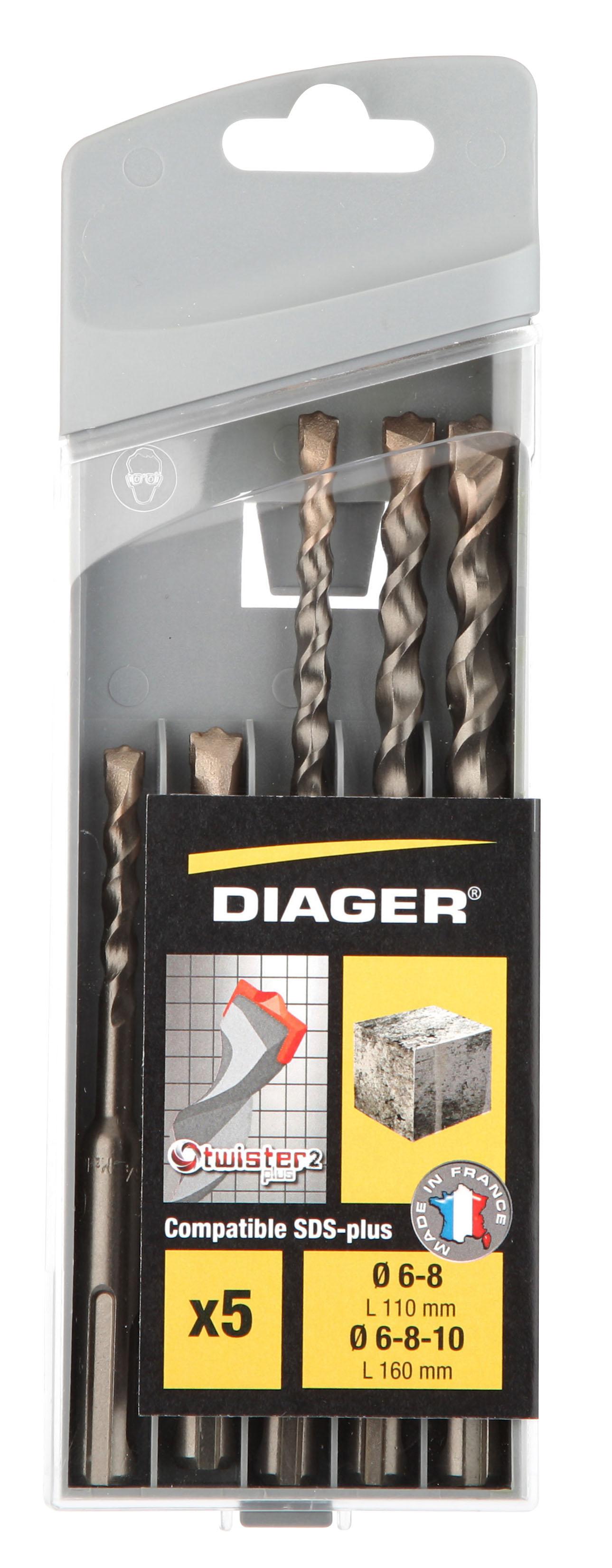 Perçage Twister Plus Coff plast. 5pcs Twister-plus L110 Ø6-8 L160 Ø6-8-10 - 136C.jpg