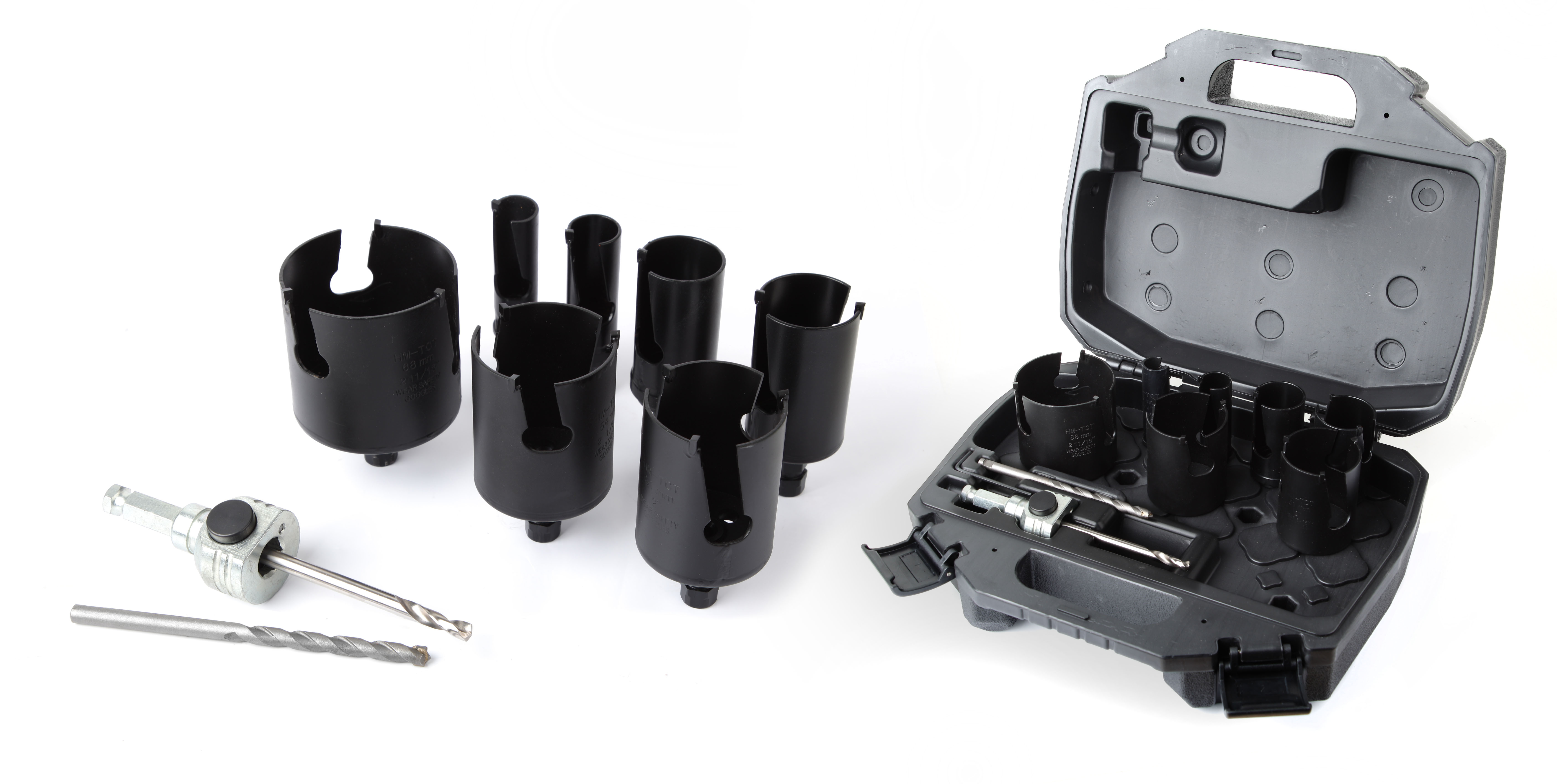 Drilling Carbide hole saw Multi purpose hole saw set sizes ø19-25-32-38-44-57-68 + pilote + 2 drill bit - 3000E.jpg
