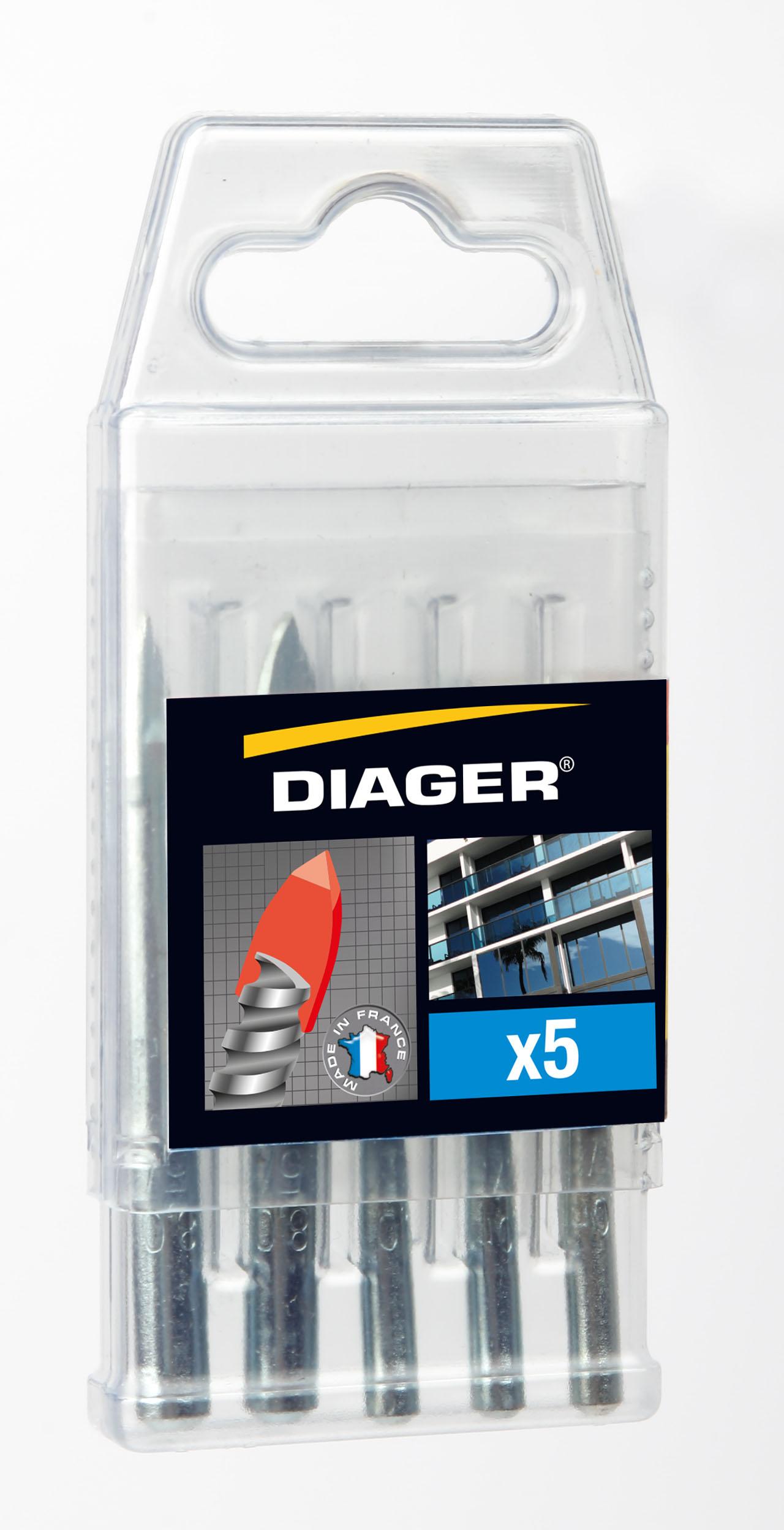 Drilling Ceratile Set 5 Ceratile drill bits sizes Ø 6 (X3) - Ø 8(X2)mm - 408C.jpg