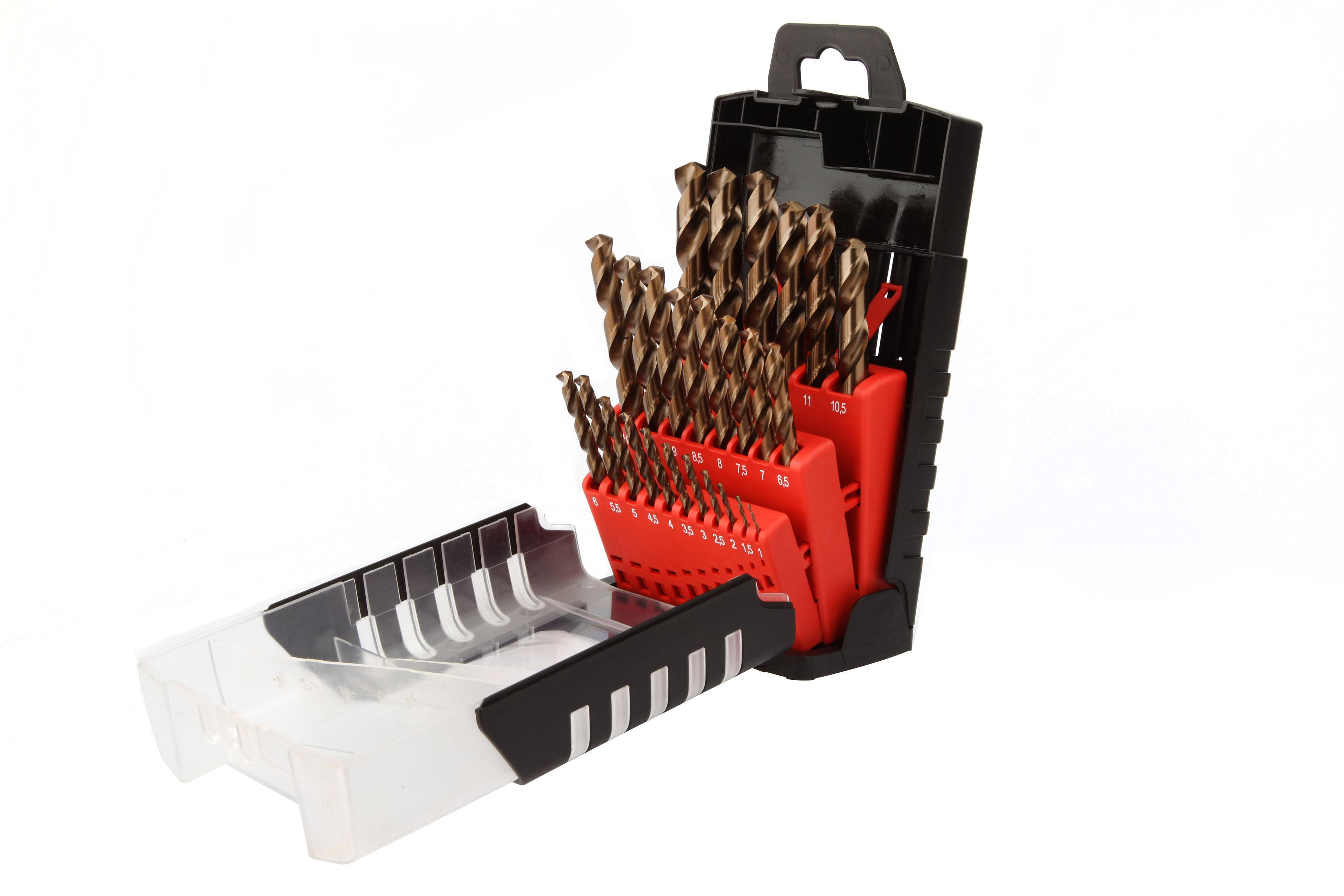 Drilling Cobalt 5% Set 25 HSS 5% Cobalt drill bit 135° split point sizes Ø1 to 13mm by 0,5mm - 707D.jpg