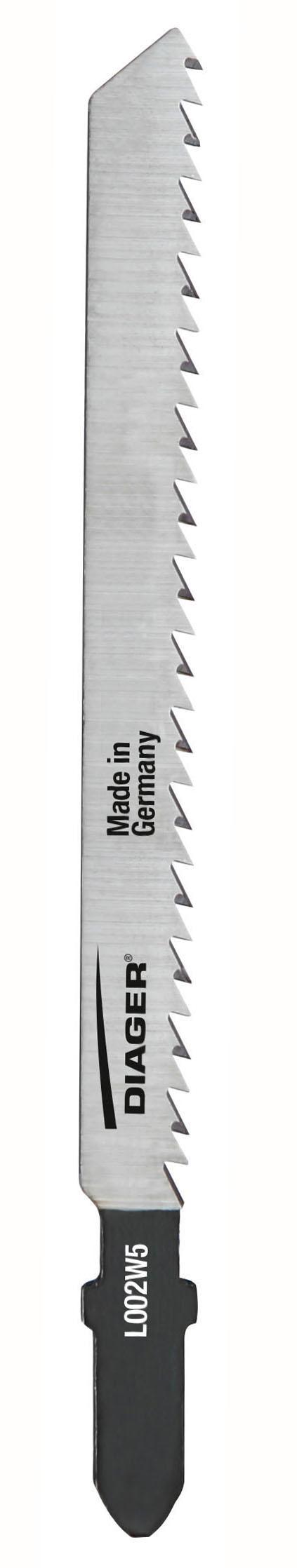 Sciage Bois et plastique 3-30 mm Lame de scie sauteuse pour coupes propres - L002W.jpg