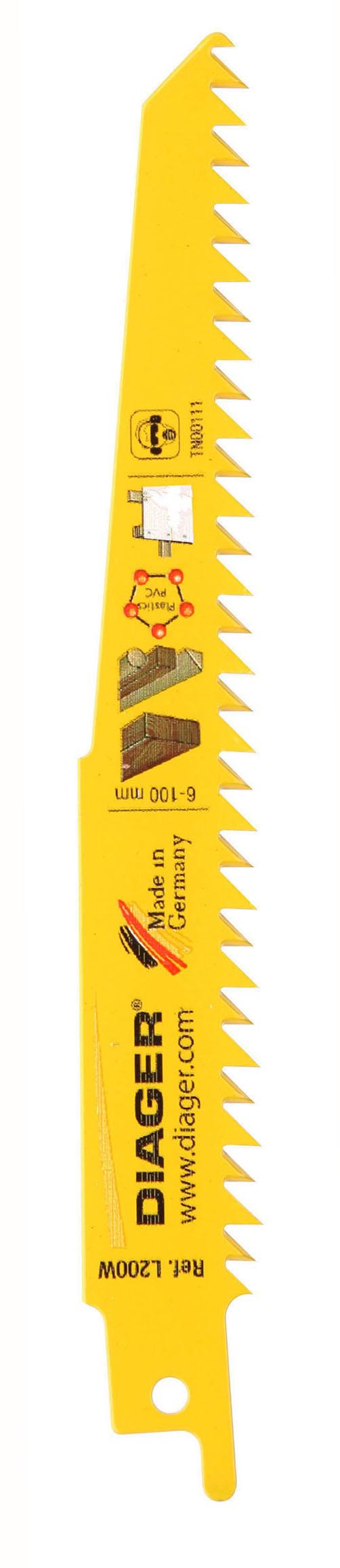 Sciage Plâtre, bois et plastique Lame de scie sabre spéciale plâtre - L200W.jpg