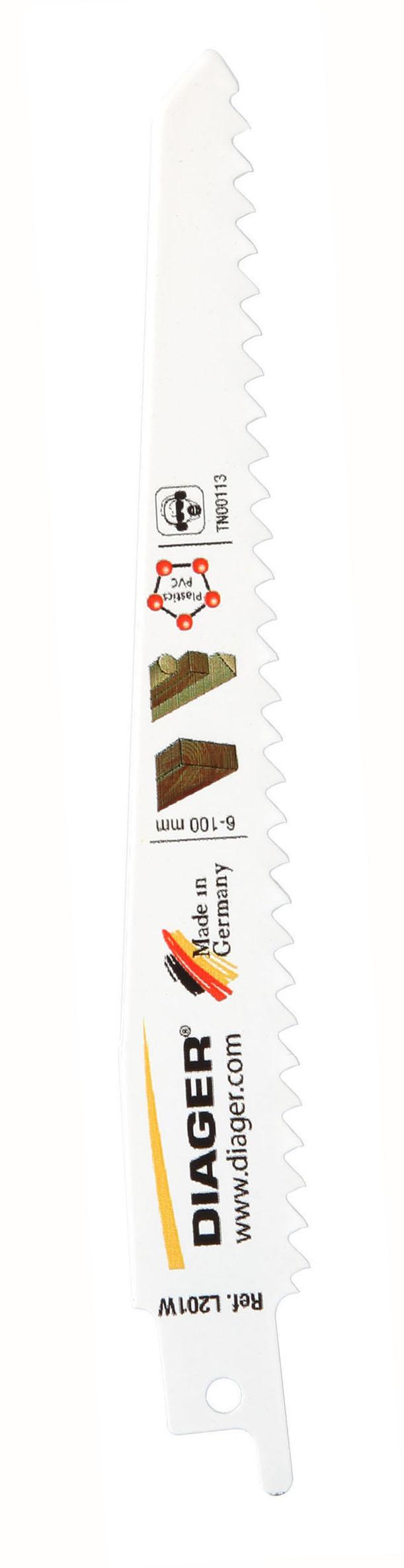 Sciage Bois et plastique Lame de scie sabre coupe rapide - L201W.jpg