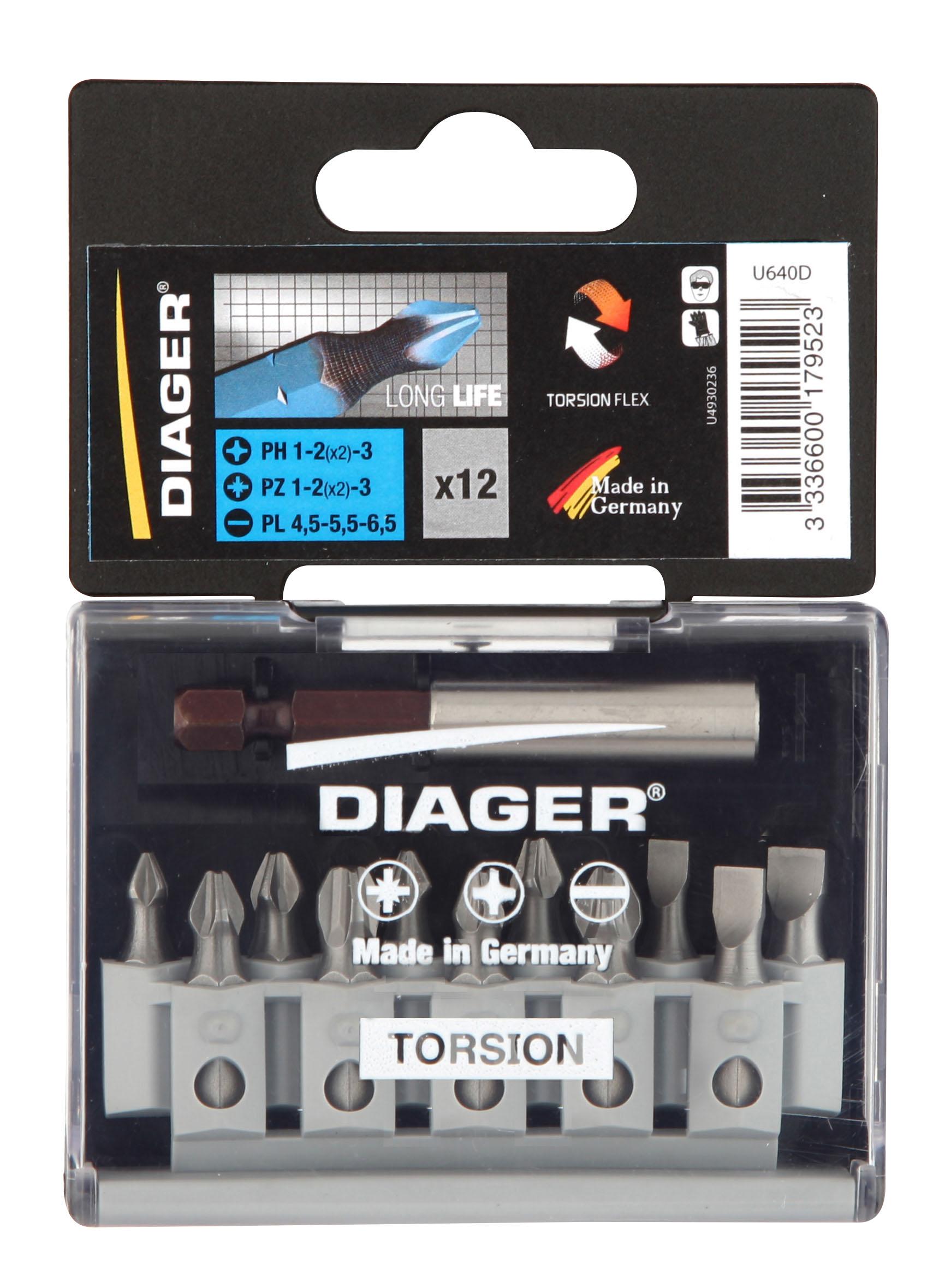 Screwdriving Torsion bit Set 15 torsion bits 25mm PZ 1-2(2)-3 PH 1-2(2)-3 TX 15-20-25-30 PL5,5-6,5 +FOXII - U640D.jpg